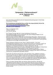 2 Fläche Faltblatt - Beirat zur Nachhaltigen Entwicklung in Thüringen
