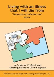 Guide for professionals offering palliative care and support - Heart of ...