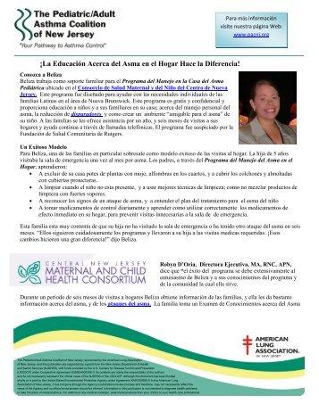 Conozca a Beliza - The Pediatric Asthma Coalition of New Jersey