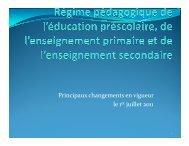 Principaux changements en vigueur le 1er juillet 2011 - Syndicat de ...