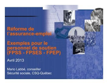 Exemple A - Syndicat de Champlain