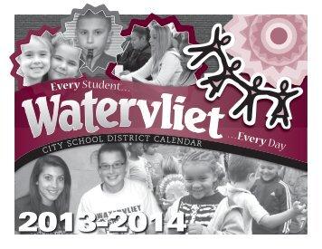 Download a 2013-14 school calendar - Watervliet City Schools