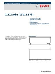 D1222 Akku (12 V, 2,2 Ah) - Bosch Security Systems