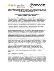 smithsonian channel and comcast host black history month school ...