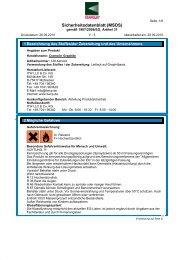 Technisches Datenblatt / Sicherheitsdatenblatt für CRA GRAPHIT-2 ...
