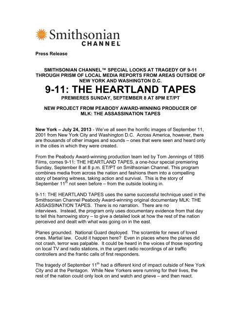 9-11: THE HEARTLAND TAPES - Smithsonian Channel