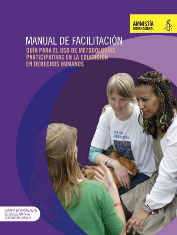 manual de facilitación para la educación en derechos humanos