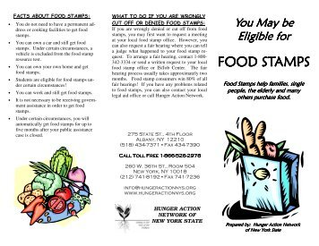 FOOD STAMPS - Hunger Action Network in NYS