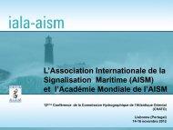 L'Association Internationale de la Signalisation Maritime (AISM) et l ...