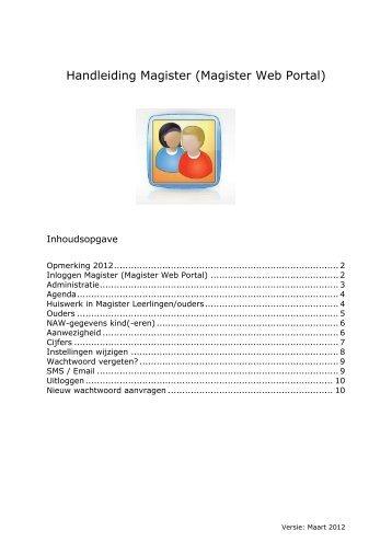 Handleiding Magister Web Portal - Christiaan Huygens College