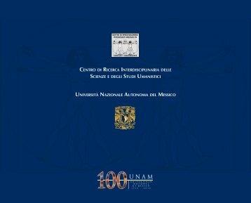 CENTRO DI RICERCA INTERDISCIPLINARIA DELLE ... - UNAM