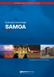 Business Advantage Samoa 2011/2012 - Ministry of Commerce ...