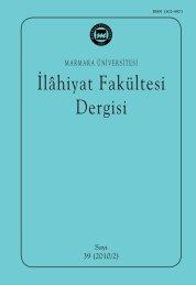 Contents - İlahiyat Fakültesi - Marmara Üniversitesi