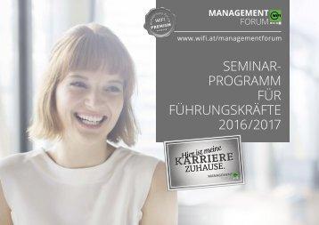 Seminarprogramm für Führungskräfte 2016/2017