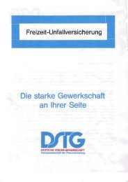 Auszug aus dem Versicherungsvertrag - DSTG-SH