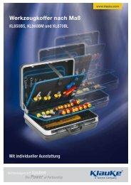 Werkzeugkoffer nach Maß - Gustav Klauke GmbH