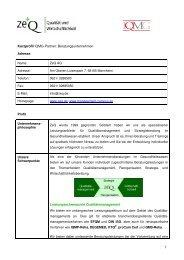 Kurzprofil ZeQ2010 - IQMG Institut für Qualitätsmanagement im ...