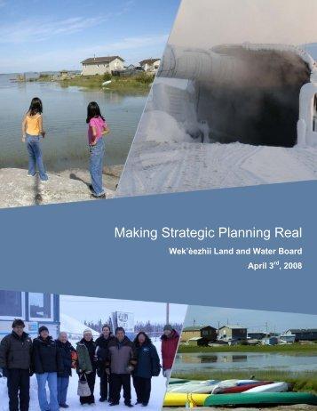 WLWB Strategic Plan – 2008 - Wek'eezhii Land and Water Board