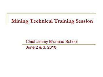 Mining Technical Training Session - Wek'eezhii Land and Water Board