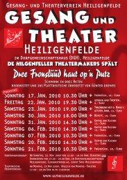 Dree Fronslüüd haut op'n Putz - und Theaterverein Heiligenfelde