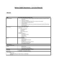 Bethune's compulsory English courses - English with Mr. Abarbanel