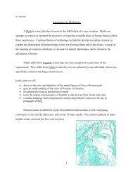 Introduction to Mythology - English with Mr. Abarbanel