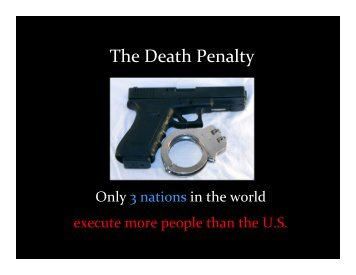 The Death Penalty - Discover Human Rights