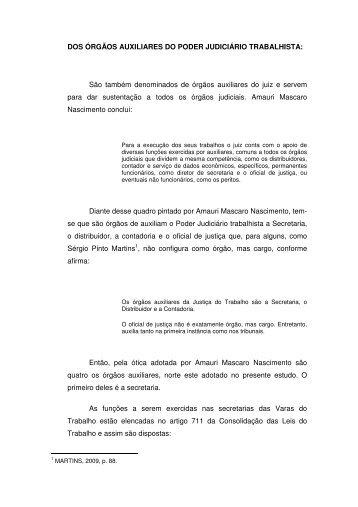 DOS ÓRGÃOS AUXILIARES DO PODER JUDICIÁRIO ... - AJDD