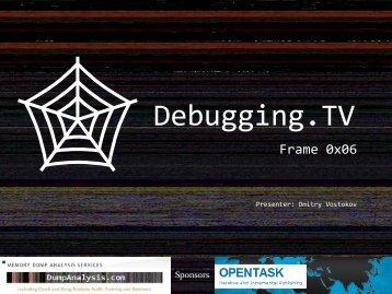 R9d - Debugging TV