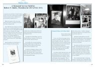 A Memorial Service Held for Robert N. Butler, President & CEO of ...