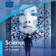 Science at the service of Europe