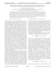 Differential Conductance and Quantum Interference ... - INDIGO @ UIC