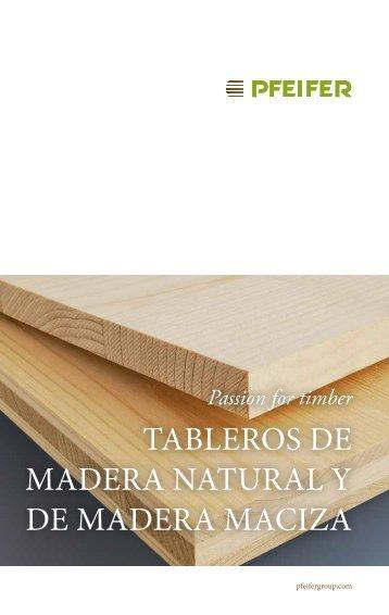 Tableros de madera maczia y natural PDF, 700 KB - Pfeifer