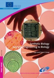 Synthetic Biology Applying Engineering to Biology - Europa