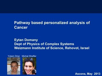 Pathway based personalized analysis of Cancer - D-BSSE