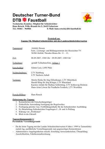 Deutscher Turner-Bund DTB Faustball