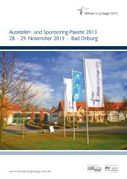 Windenergietage NRW 2013 - Stadtwerke Bad Driburg GmbH