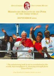 september 2011 - Misioneros Siervos de los Pobres del Tercer Mundo