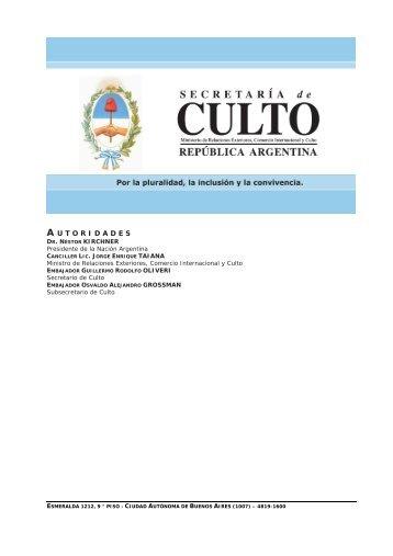 Archivo PDF - Ministerio de Relaciones Exteriores y Culto