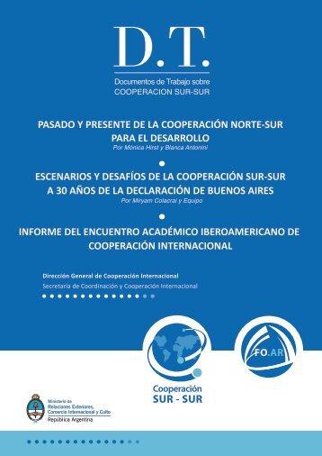 Documentos de Trabajo sobre Cooperación Sur-Sur - Ministerio de ...