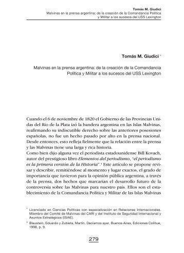 Tomás M. Giudici - Ministerio de Relaciones Exteriores y Culto