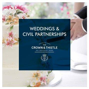 WEDDINGS & CIVIL PARTNERSHIPS