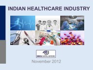 Indian Healthcare Industry, November 2012