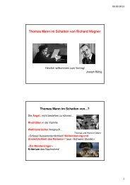 PowerPoint Präsentation Thomas Mann