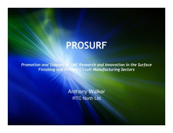 EU FP7 research funding opportunities - Prosurf
