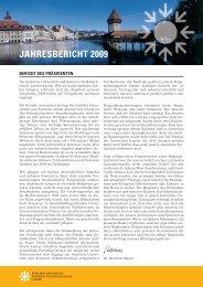JAHRESBERICHT 2009 - Senioren-Universität und Senioren ...