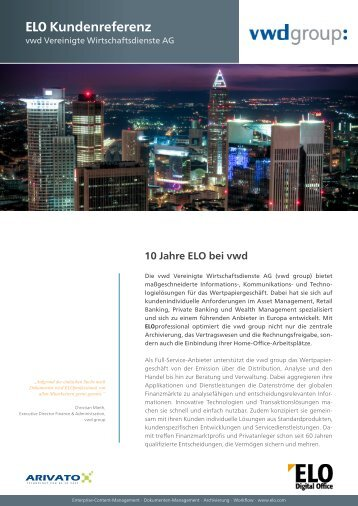 Gesamten Referenz- bericht als PDF - ELO Digital Office GmbH