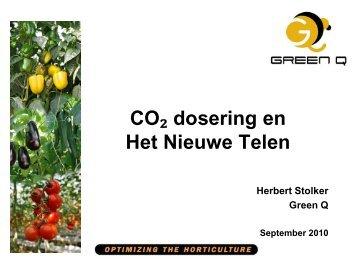 Presentatie H. Stolker- CO2 doseren en Het Nieuwe - Energiek2020