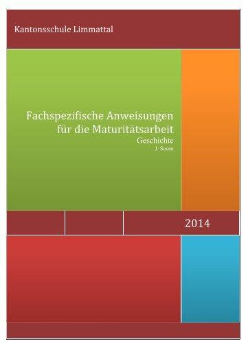 2013 Fachspezifische Anweisungen für die ... - Jost Soom