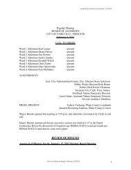 Board Meeting Minutes 02-05-2013 - City of Parkville